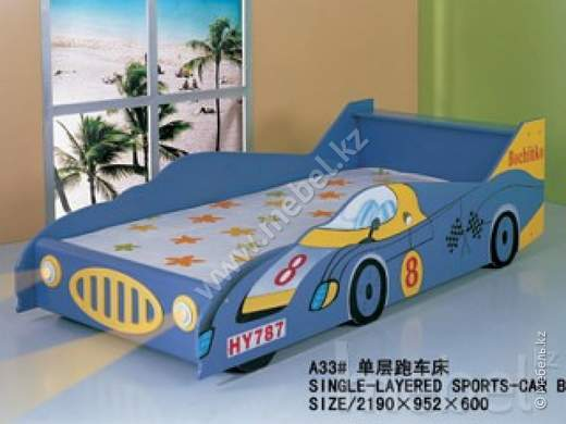 Single-layered sports-car bed №A32