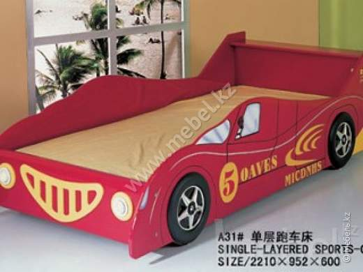 Single-layered sports-car bed №А31
