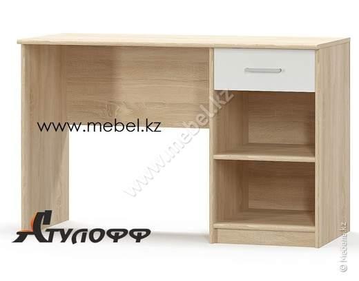 Типс Стол письменный 1Ш, Дуб сонома/Белый, Мебель-Сервис