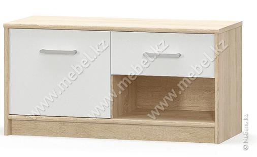 Типс Тумба 1Д1Ш, Дуб сонома/Белый, Мебель-Сервис