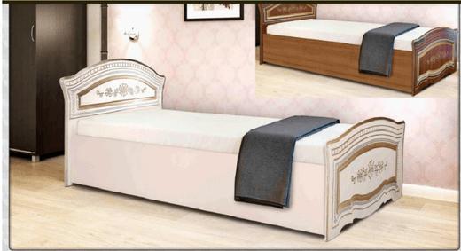 Лилия Кровать односпальная ( крем) Азия Бренд